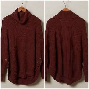 Anthropologie Harvest Moon Cable Sweater Poncho